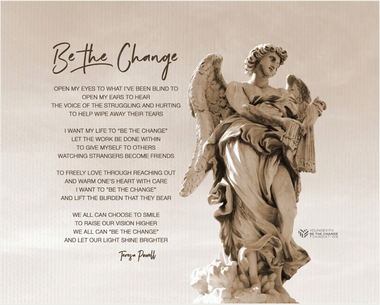 "Picture of Be The Change - 20 x 16 Premium 3/4"" Mounted Print"