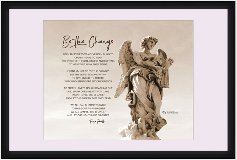 Picture of Be The Change - 14 x 11 Matted Print in 20 x 16 Frame