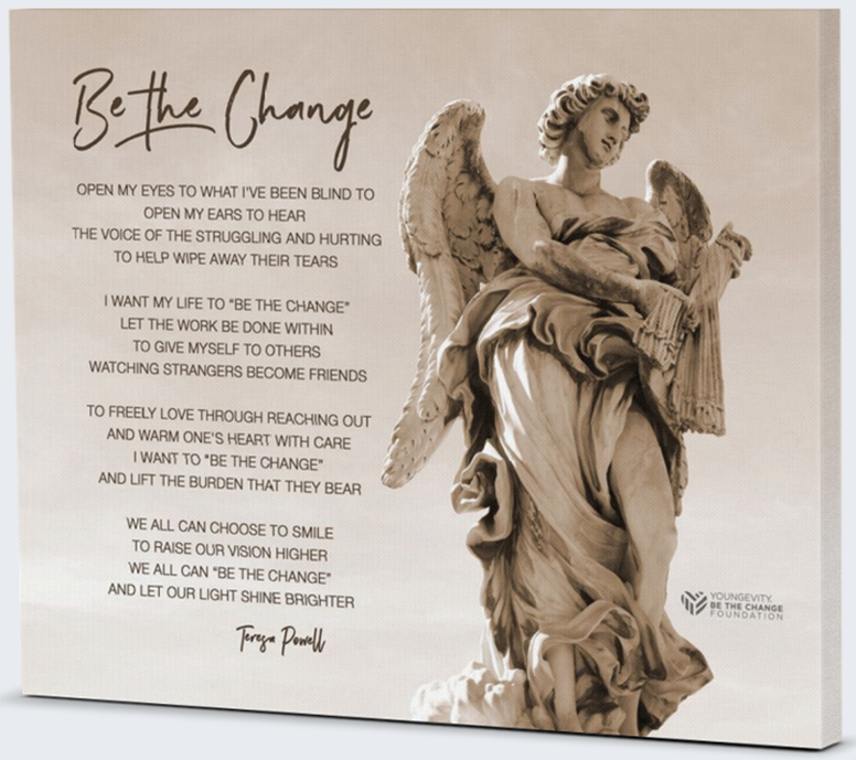 Picture of Be The Change - 20 x 16 Gallery-Wrapped Canvas