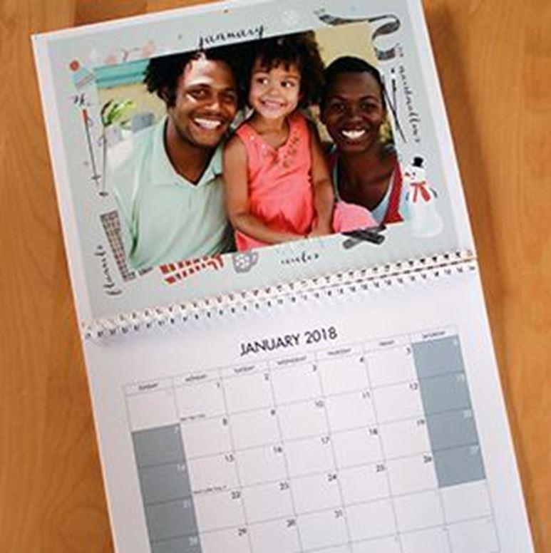 8.5 x 11 Photo Calendar